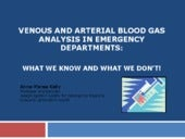 Venous and arterial blood gas analysis in the ED: What we know and what we don't