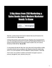 3 Big Ideas from 250 Marketing & Sales Books Every Modern Marketer Needs To Know