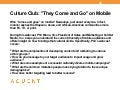 Aquent/AMA Webcast: Culture Club Mobile