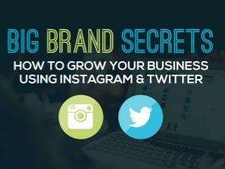 Big Brand Secrets: How to Grow Your Business Using Instagram & Twitter