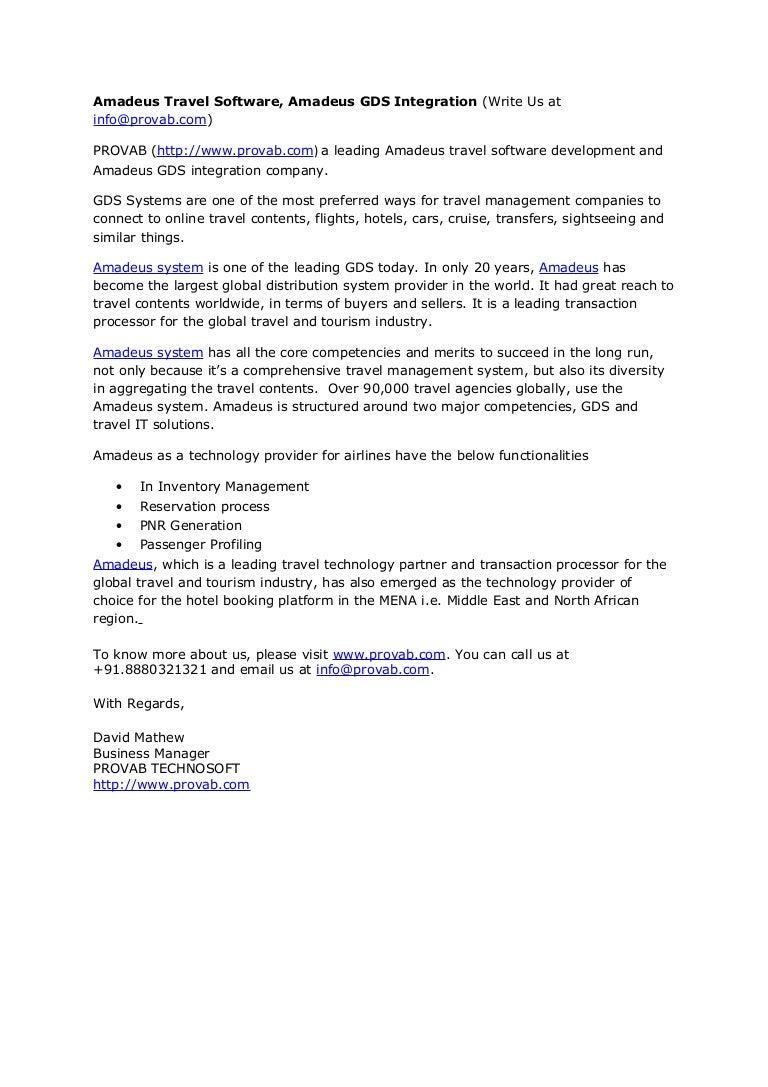 Amadeus Travel Software, Amadeus GDS Integration (Write Us at info@pr…