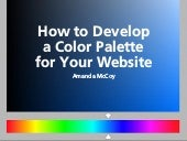How to Develop a Color Palette for Your Website with Amanada McCoy