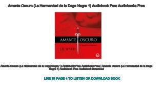 Amante Oscuro (La Hermandad de la Daga Negra 1) Audiobook Free Audiobooks Free