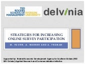 Strategies for Increasing Online Survey Participation