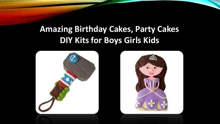 Amazing Birthday Cakes Party Cakes Diy Kits For Boys Girls Kids
