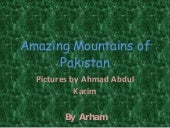 Amazing Mountains Of Pakistan