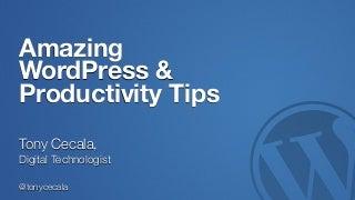 Amazing WordPress & Productivity Tips