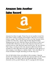 Amazon sets another sales