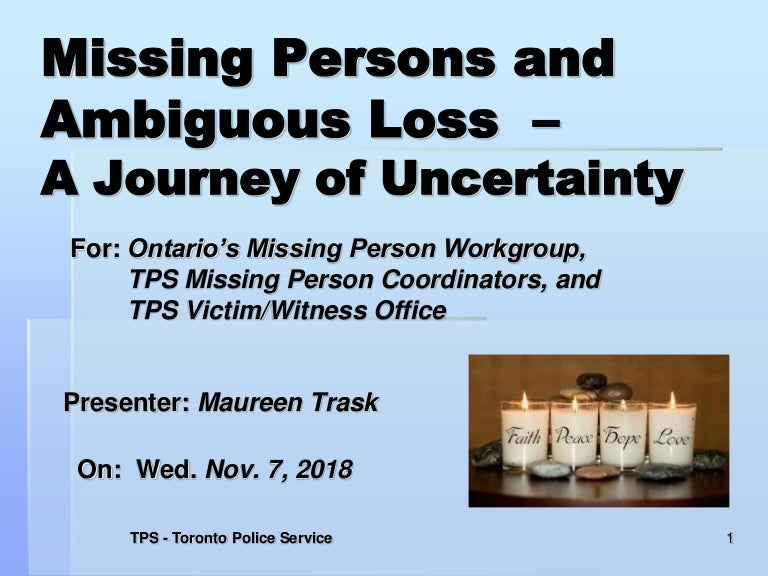 Ambiguous loss presentation nov 7 2018
