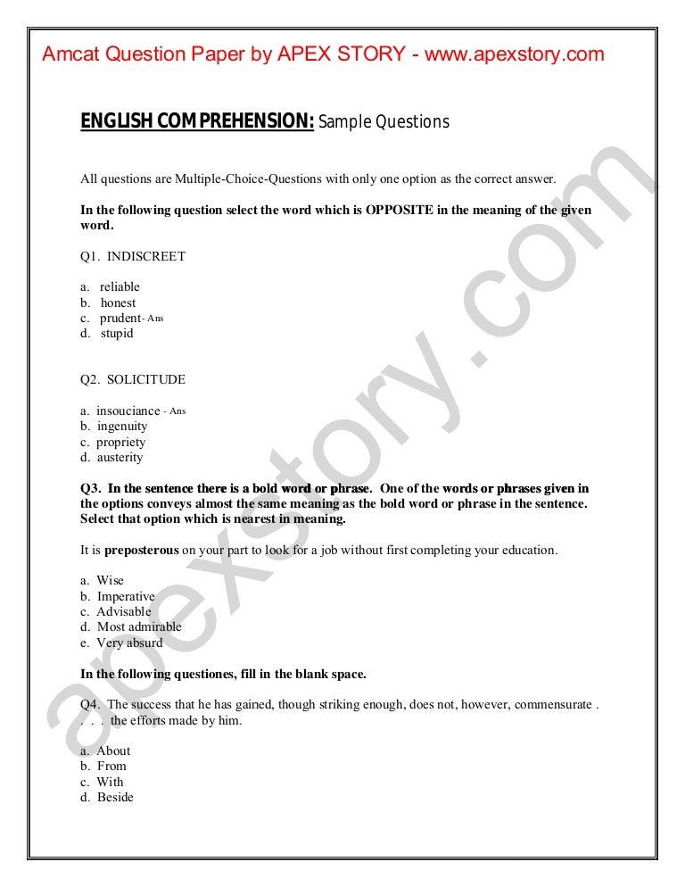 Amcat test-question-papers