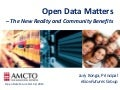 Open Data - New Reality & Community Benefits
