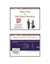 What's new in b2b digital marketing by Ruth Stevens