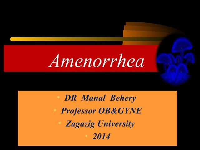 Amenorrhea for undergraduate