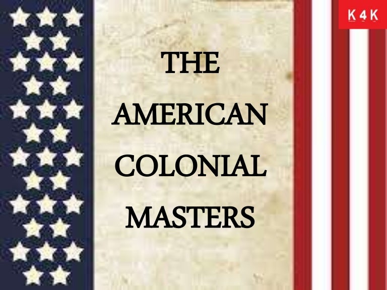 The american colonial masters toneelgroepblik Image collections