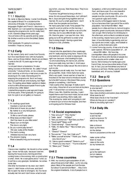 American Headway 2 Student Book Traducciones y respuestas