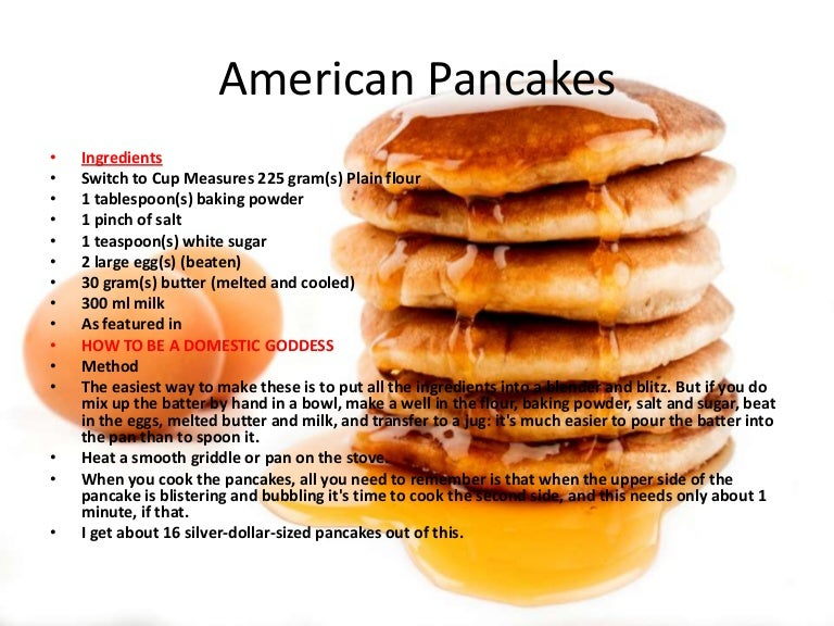American pancakes recipe ccuart Image collections