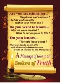 A Message Of Love To All Seekers Of Truth