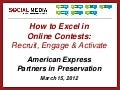 AmEx Partners in Preservation Social Media 3-15-12 Webinar