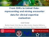 Amia 2013: From EHRs to Linked Data: representing and mining encounter data for clinical expertise evaluation
