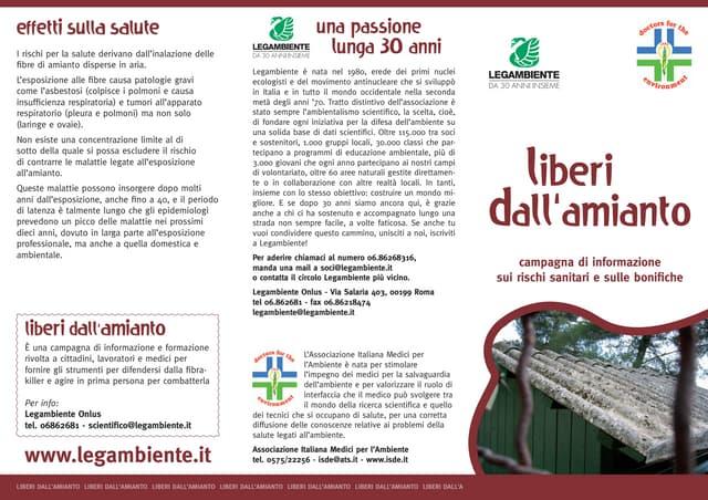 Amianto - Liberi dall'amianto (opuscolo)