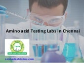 Quantitative Amino Acid Testing Labs in Chennai
