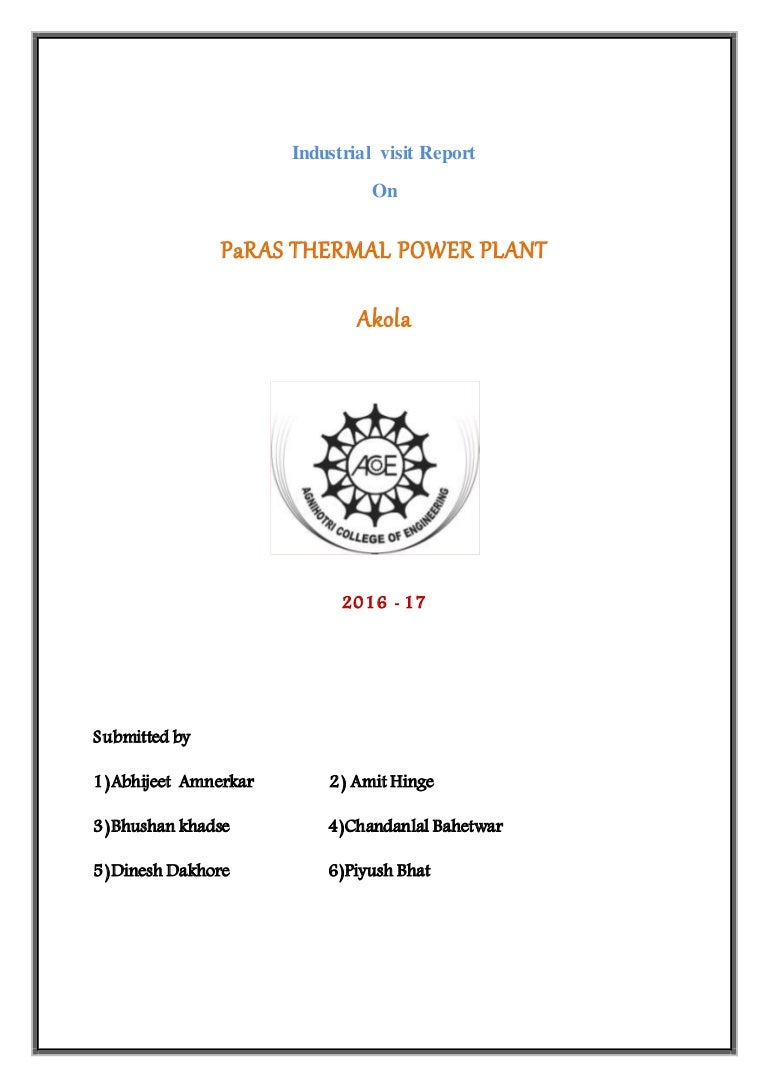 Thermal Power Plant Visit Report By Amit Hinge Combined Cycle Ts Diagram