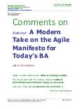 MY COMMENTS ON--A modern take on the Agile Manifesto for today's BA