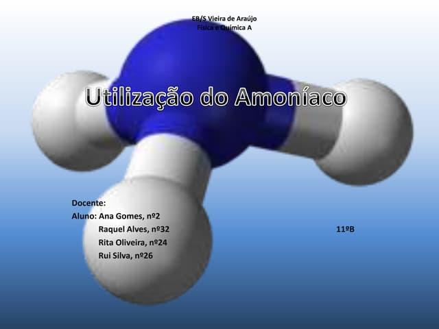 Amoniaco utilização