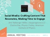 Social Media: Crafting Content That Resonates, Making Time to Engage #AMP15