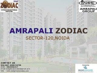 AMRAPALI ZODIAC Sector-120 Noida - 2,3,4 BHK Booking @ 9910061017