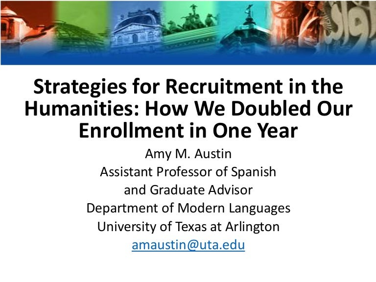 Strategies for Recruitment in the Humanities