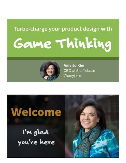 Game Thinking UIE 2016 Keynote