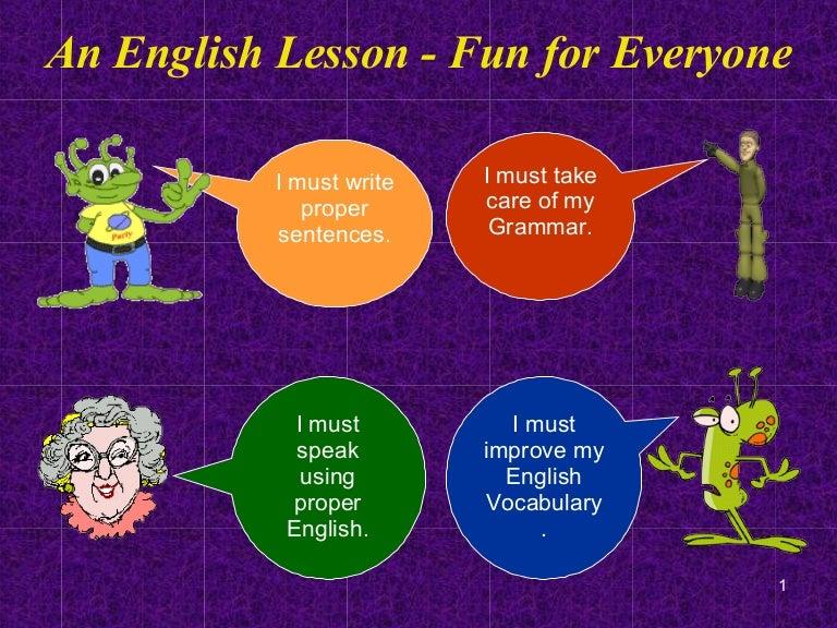 An English Lesson - Fun for Everyone
