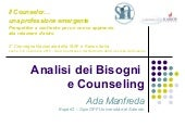 Analisi dei Bisogni Counseling