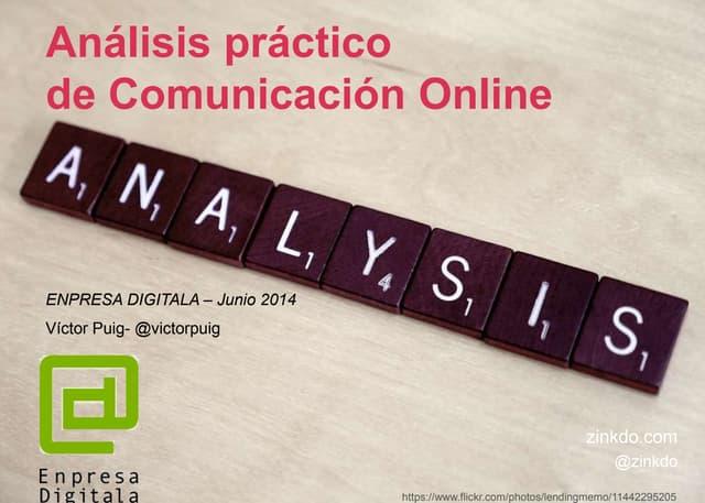 Análisis Práctico de Comunicación Online - Mondragon