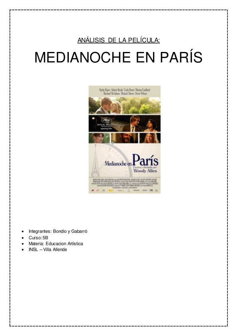 Analisis de la pelicula midnight in paris