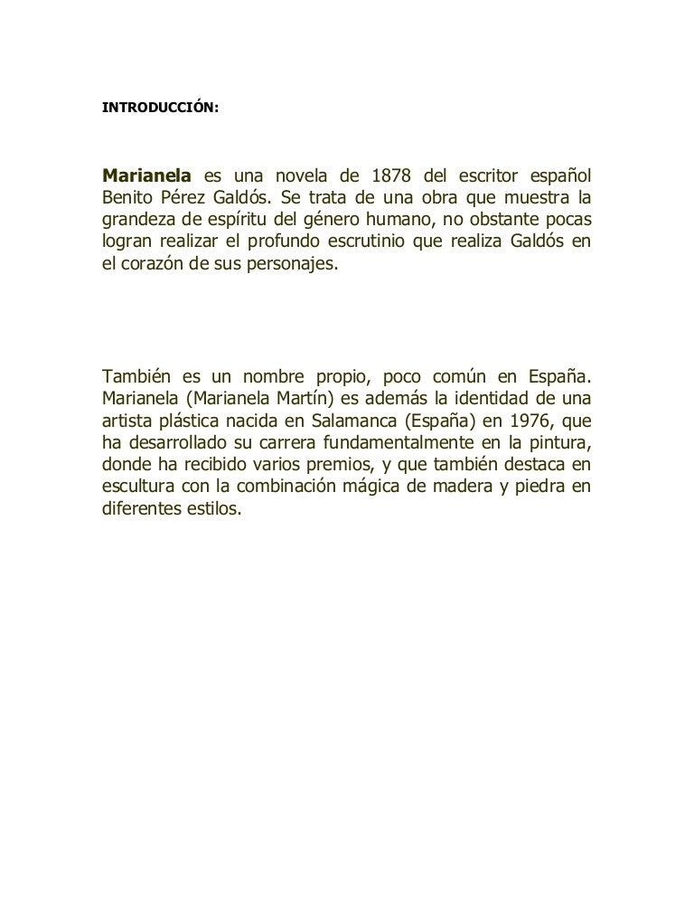 Análisis De Marianela