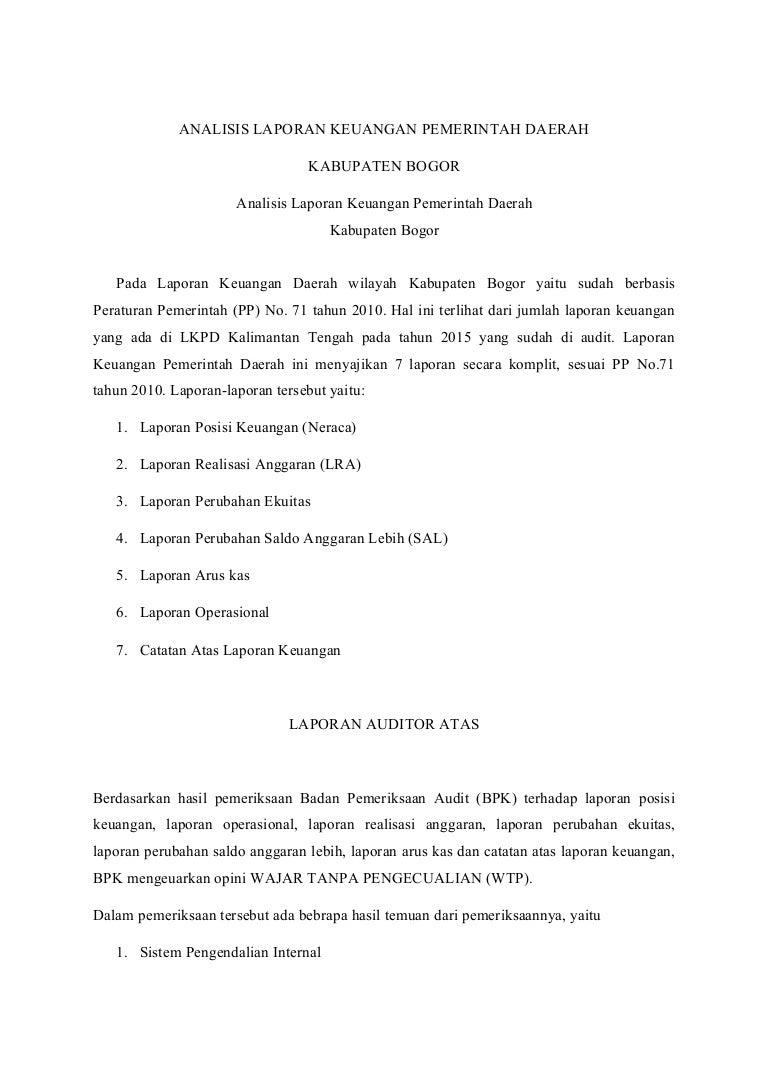 Analisis Lkpd Provinsi Kalimantan Tengah