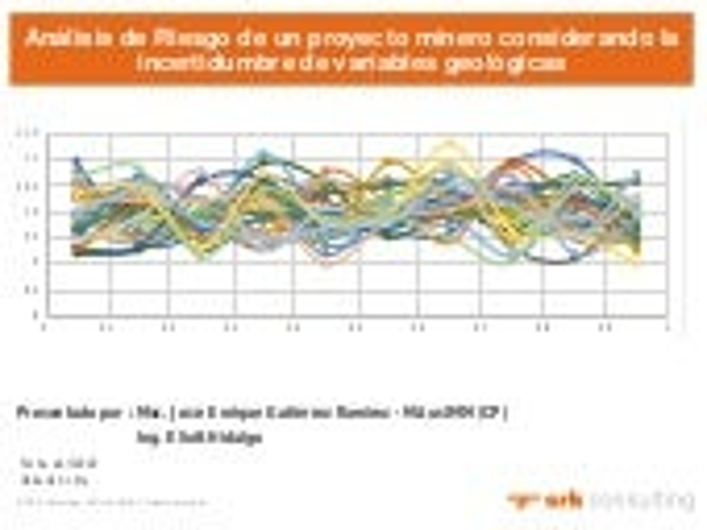 Análisis de riesgo de un proyecto minero considerando la incertidumbre de variables geológicas