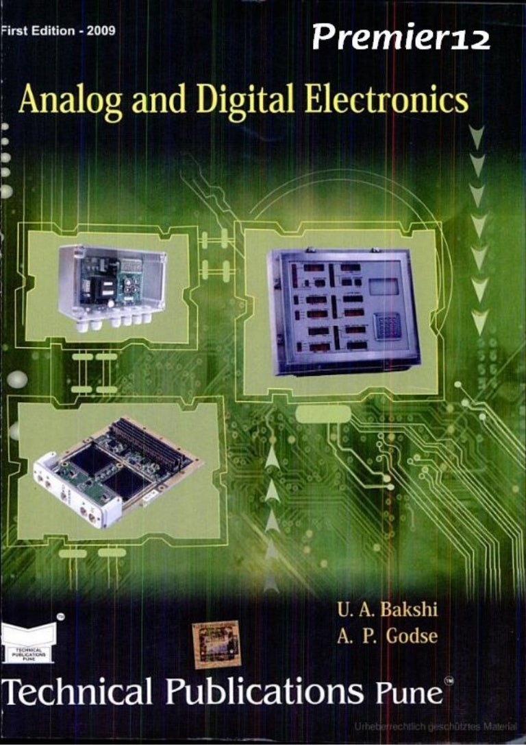 Analog And Digital Electronics By U A Bakshi Electronic Circuit Applications Projects