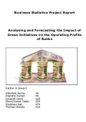 Analysing green initiatives effect on operating profit