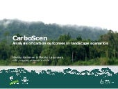 CarboScen: Analysis of carbon outcomes in landscape scenarios