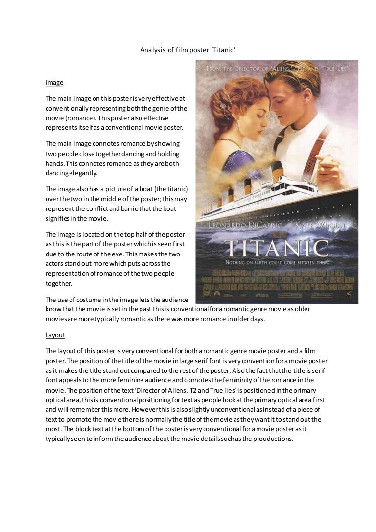 analysis of film poster titanic