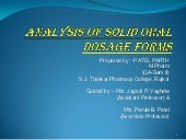 Analysis of solid oral