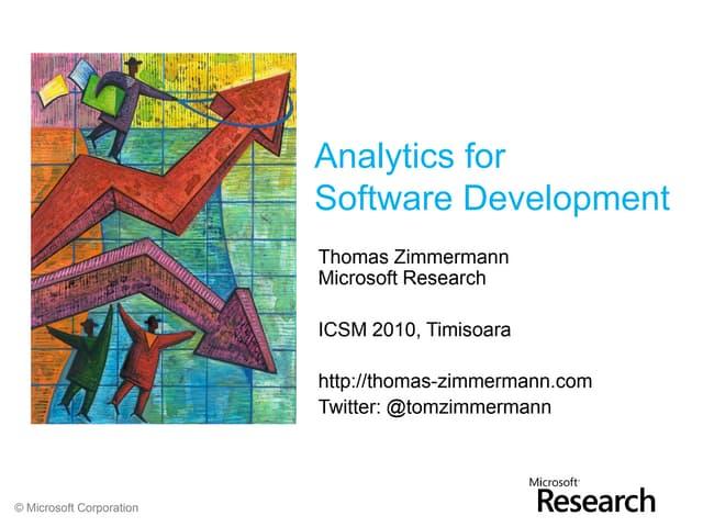 Analytics for software development