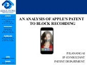 An analysis of apple's patent to block recording