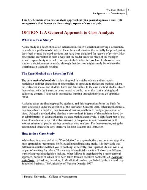 case study essay sample