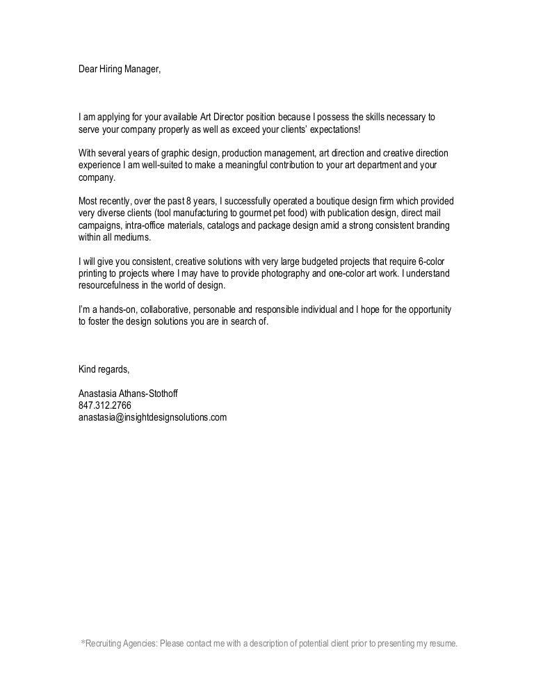 Anastasia Cover Letter 2010