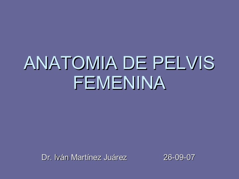 Anatomia De Pelvis Femenina1