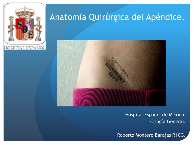 Anatomía quirúrgica apéndice cecal